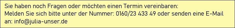 Julia Unser - Kontakt Details